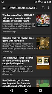 DroidGamers News- screenshot thumbnail