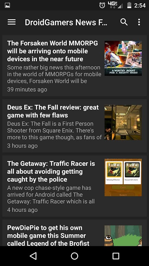 DroidGamers News- screenshot