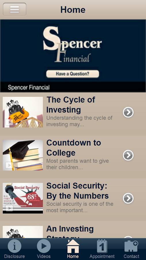 Spencer Financial Services- screenshot