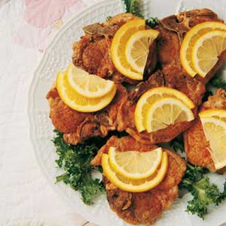 Citrus-Topped Pork Chops.