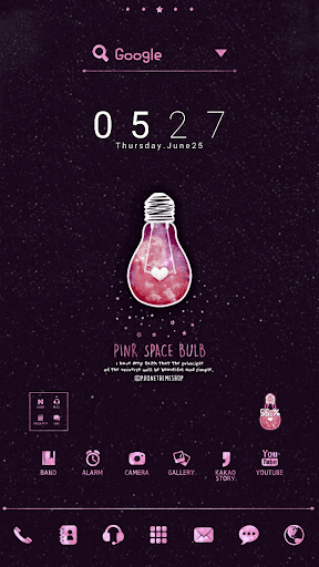 Pink space DodolLauncherTheme