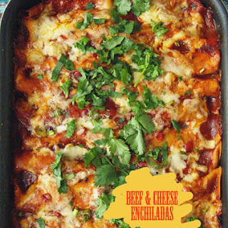 Beef and Cheese Enchiladas.
