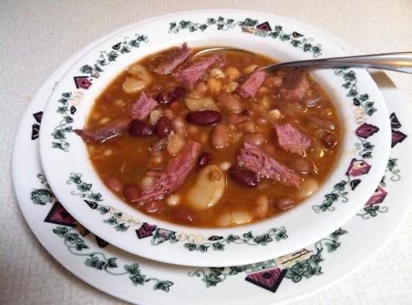 16 Bean Soup With Smoked Porkette Shoulder Butt Recipe