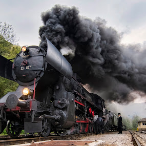ENGINE TROUBLE by Stane Gortnar - Transportation Trains