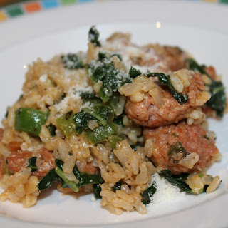 Pressure Cooker Risotto with Italian Sausage and Kale