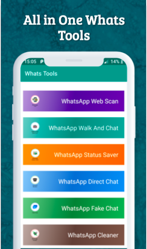 Whats Tools For Watsapp-Status Saver,Instant Chat 1.6 screenshots 1