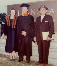 Photo: Robert F. Wagner (middle), with parents Margaret (Haines) Wagner and Ferdinand R. Wagner at his graduation from Villanova University, 1959.