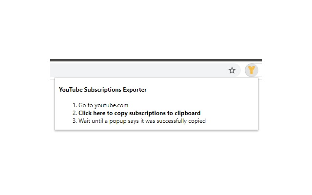 YouTube Subscriptions Exporter
