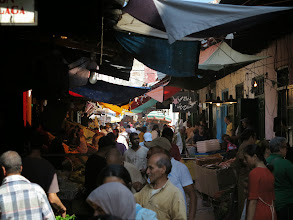 Photo: a market in Tetouan