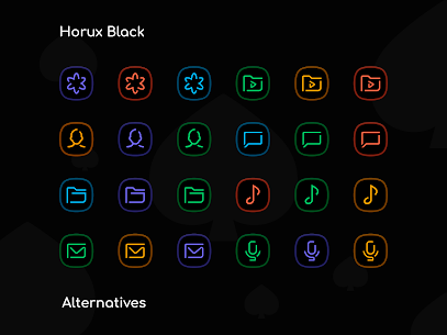 Horux Black – Icon Pack (MOD, Paid) v3.1 3