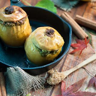Pistachio Apples with Cinnamon Custard Recipe