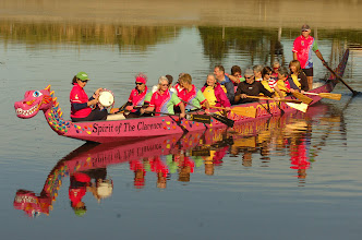 Photo: Clarence Valley Dragons Abreast members take out guests on the  Clarence River on a 'Come & Try Day' in June