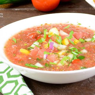 Easy Watermelon Gazpacho