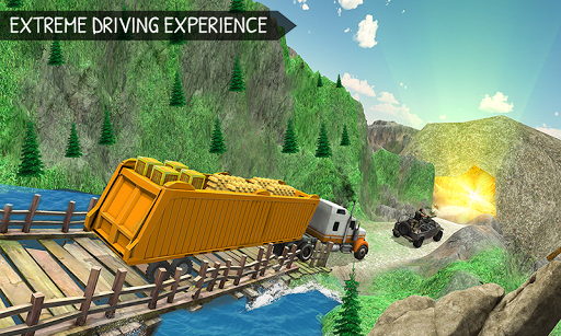 Off-Road Gold Transport Trailer Trucker 3D screenshot 2