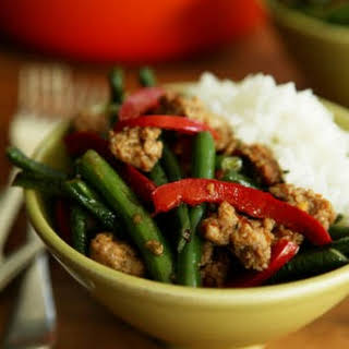 Wok-fried Green Beans With Chilli Pork.