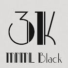 3K MNML Black - Icon Pack icon