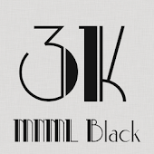 3K MNML Black - Icon Pack