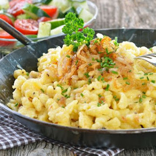Scrumptious Spaetzle And Cheese.