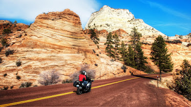 Photo: Ride Through the Mountains of Zion National Park  One of the benefits of a relatively warm winter this year is that this road isn't covered with snow & ice. Sadly, I didn't have my motorcycle on this trip. Then again, I wouldn't have this photo if I had ridden that day, so it's all good.  During my first stay at Zion National Park, I asked some of the locals in Springdale about the weather and the best time of year to visit. They told me that Zion only has two kinds of weather:  1: Too damn hot! 2: Too damn cold!  That aside, most folks agreed that September was an ideal time to visit. It turns out that February wasn't so bad when it's a warm winter, too.  Please visit the blog at http://williambeem.com