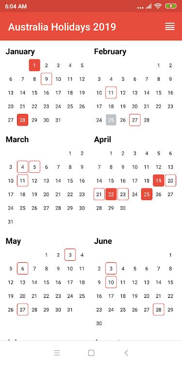 Public holidays australia 2019