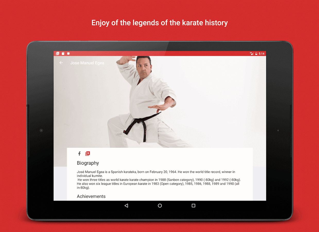 Karate Stars: videos, biographies and results- screenshot