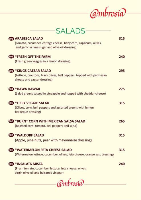 Ambrosia menu 7