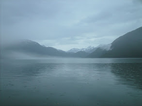 Photo: July 5 - Heading north up Blake Channel in the rain.