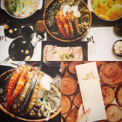 痛風鍋,台北的半價吃到一堆新鮮的蝦