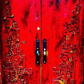 Red Doors by Edward Gold - Digital Art Things ( digital art red doors artistic  colorful  vibrant, digital art red doors artistic colorfuldigital, digital art,  )