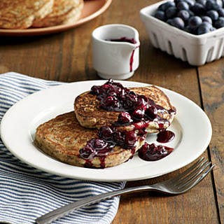 Lemon-Poppy Seed Pancakes with Blueberry Compote