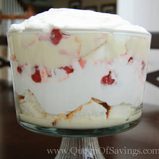 Strawberry Delight Trifle.