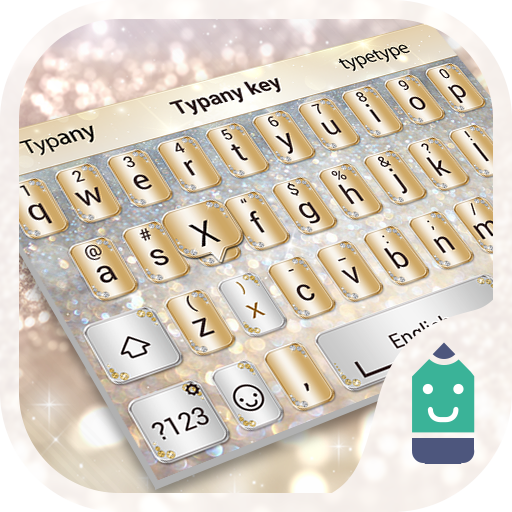 Gold and Silver Theme Keyboard