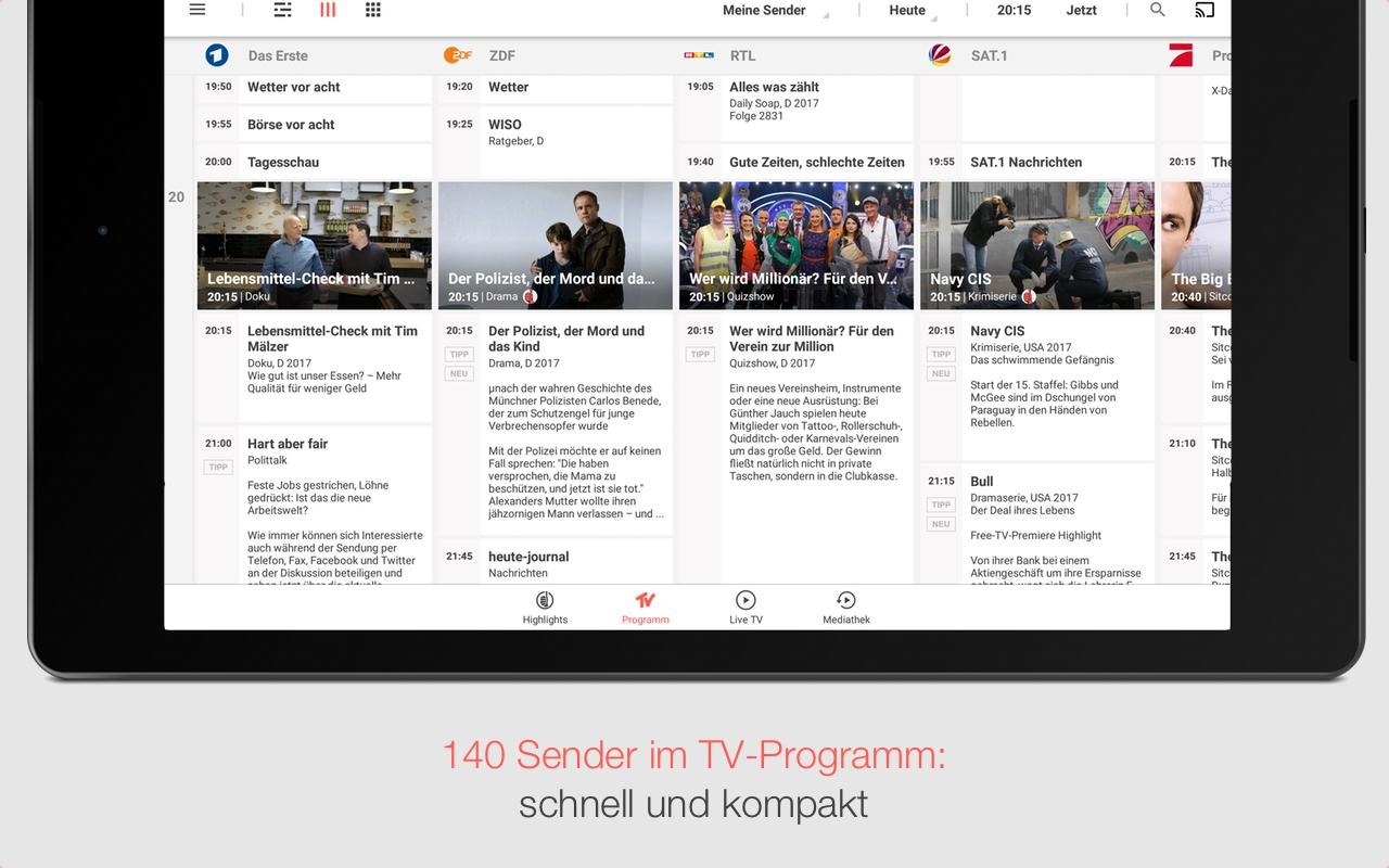 tv spielfilm tv programm mit live tv android apps on google play. Black Bedroom Furniture Sets. Home Design Ideas