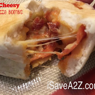 Easy Cheesy Pizza Bombs with Pepperoni and Bacon