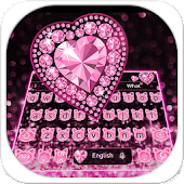 Pink Diamond Cat Keyboard