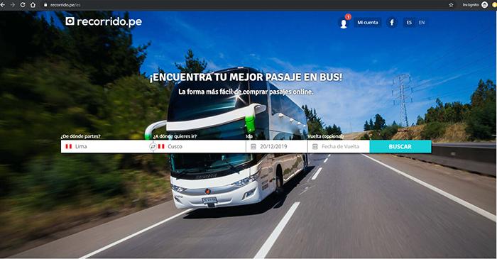 Compra tus pasajes de bus en Recorrido.pe para viajar a Perú