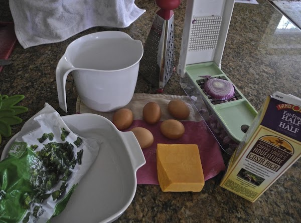 """Pre heat oven to 375º. Use 9x9"""" baking dish. Spray bottom and sides with Pam. Set aside."""