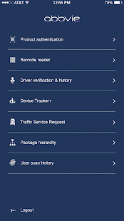 AbbVie Supply Chain Mobile App - náhled