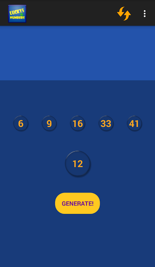 LUCKY5 NUMBERS- screenshot