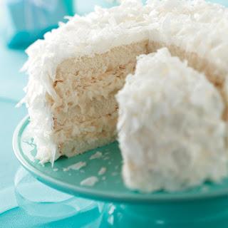 White Chocolate Coconut Cake.