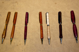 Photo: An example of some of the pens turned by the Aleys.