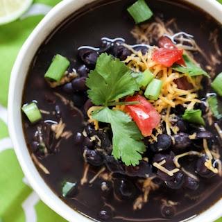 7-Ingredient Crock-Pot Black Bean Soup