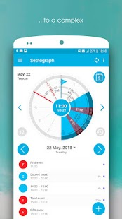 Sectograph. Planner & Time manager on clock widget Screenshot