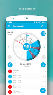 Sectograph. Planner & Time manager on clock widget