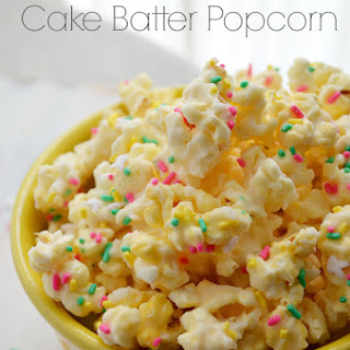 Bunny Mix Cake Batter Popcorn for Easter.