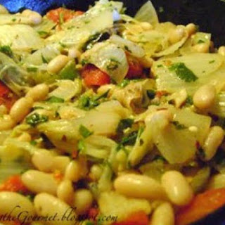 Chinese Cabbage with Cannellini Beans & Tomatoes!!.
