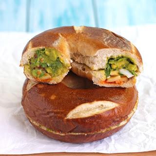 Hidden-Egg Bagel Sandwich.