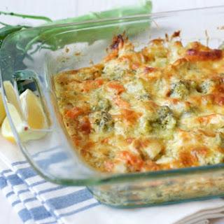 Healthy Chicken Broccoli Casserole.