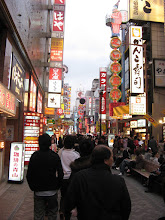 """Photo: The """"main drag"""" walking street in Nippon Bashi. It's packed with 28 thousand restaurants!!!!!!!"""