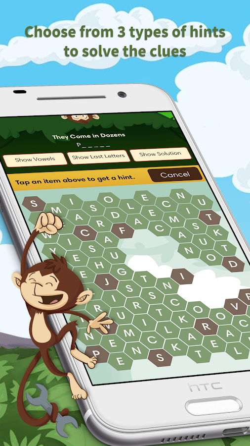 Monkey Wrench – Word Search- screenshot